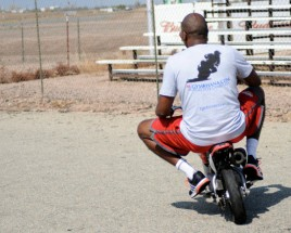Big Man on a Little Bike...